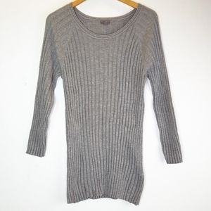 J. Jill Lined Long Sleeve Grey Sweater